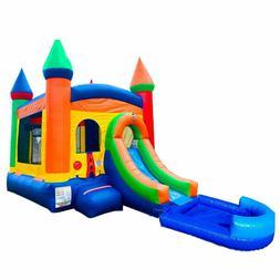 Pogo Premium Rainbow Inflatable Bounce House Water Slide Com
