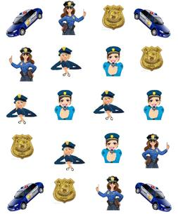 Police Woman Waterslide Nail Decals/Nail Art