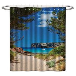 LewisColeridge Polyester Fabric Shower Curtain Beach,View on
