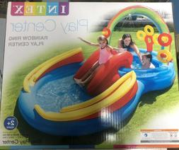 Intex Pool Rainbow Ring Inflatable Play Center Ages 2+ FREE