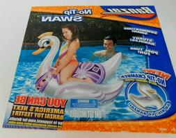 Banzai Pool Toy Inflatable No Tip Swan 37x27x31 New