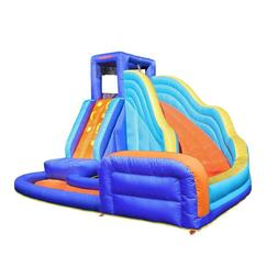 Portable Multi-Colored Polyester Big Wave Inflatable Water S