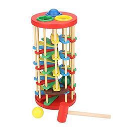 Garosa Pounding Toy Educational Knocking Ball Off Ladder Woo