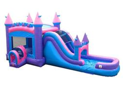 princess commercial inflatable big water slide bounce