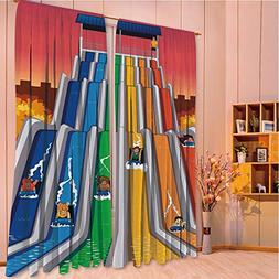 ZHICASSIESOPHIER Print Kids Curtains,Polyester Curtains Pane