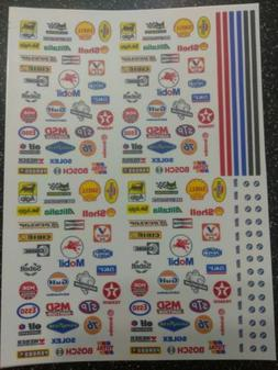 Racing Decals!! CLEAR WATER-SLIDE DECALS FOR HOT WHEELS  1:6