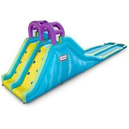 Little Tikes Racing Slides Waterslide Outdoor Water Splash A