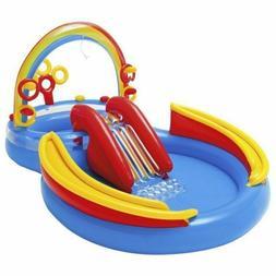 "Intex Inflatable Rainbow Ring Play Center 117"" X 76"" X 53"","