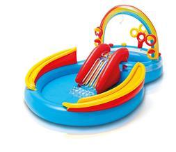 "Rainbow Ring Inflatable Play Center Intex, 117"" X 76"" X 53"","