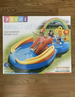 "Intex Rainbow Ring Inflatable Play Center Pool, 117"" X 76"" X"