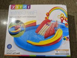 "Intex Rainbow Ring Inflatable Play Center Pool 117"" X 76"" X"