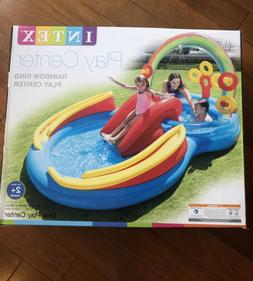 INTEX Rainbow Ring Play Center Kids Inflatable Pool W/ Water