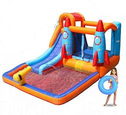 MEIOUKA Rocket Inflatable Bounce Castle Jumper Bouncer House
