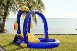 rocket pool with water slide best inflatable
