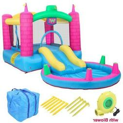 Safe Inflatable Bounce House Water Slide Pool Kids Jumping C