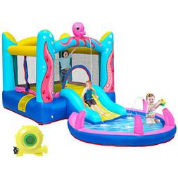 safety water slide pool inflatable bounce house