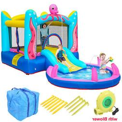 Safety Water Spray Inflatable Bounce House Kids Jump Castle