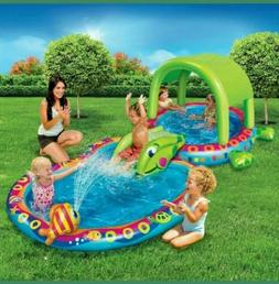 Shade 'N Slide Turtle Splash Pool Inflatable Kids outdoor pl
