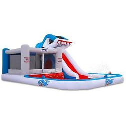 Shark Park Inflatable Water Slide Bounce House Outdoor Backy