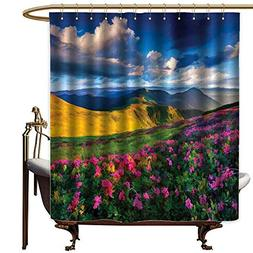 LewisColeridge Shower Curtain for Bathroom Floral,Watercolor
