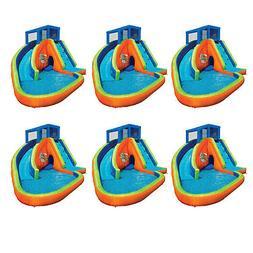 Banzai Sidewinder Falls Inflatable Kiddie Pool with Slides &