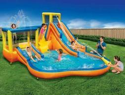Banzai Slide 'N Bounce 6-Person Splash Park