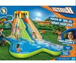 Banzai Slide N Soak Splash Park Kids Inflatable Outdoor Back
