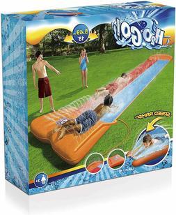 Bestway™ Slip N and Slide Dual Double Racer 2 Lane Kids 18