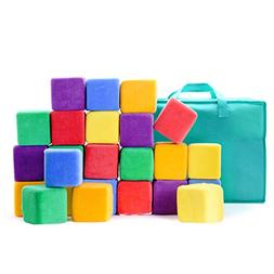 Milliard Soft Foam Blocks, Jumbo Size, for Stacking Sorting