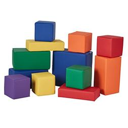 ECR4Kids Softzone Stack-A-Block, Soft Foam Play Set for Kids