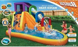 Banzai Speed Slide Water Park W/ Inflatable Blower Summer Ou