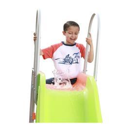 Splash Pad Water KiddieBackyard Pool Slide OutdoorPlayse