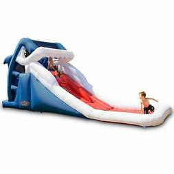 Splash Pool Kids Backyard Wet Waterslide Shark Inflatable Wa