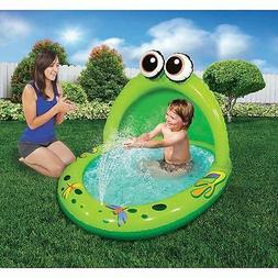 Banzai Spray & Play Inflatable Froggy Pool