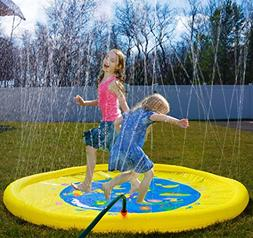 "Splashin'kids 68"" Sprinkle and Splash Play Mat toy is for ch"