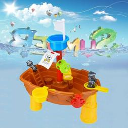 Summer Beach Pirate Ship Water Sand Play Table Outdoor Garde