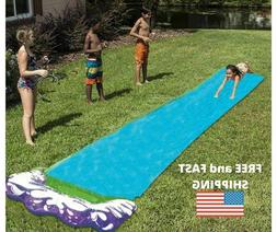 Sushelp Lawn Water Slides Slip and Slide for Kids Lawn Garde