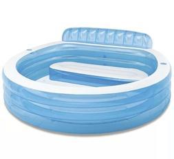"Intex Swim Center Inflatable Family Lounge Pool, 90"" X 86"" X"