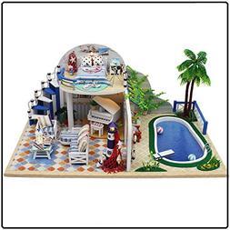 SEPTEMBER LED Swimming Pool Room Creative DIY Puzzle Toys Bu