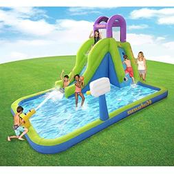 MAGIC UNION Magic Time Tornado Twist Inflatable Water Slide