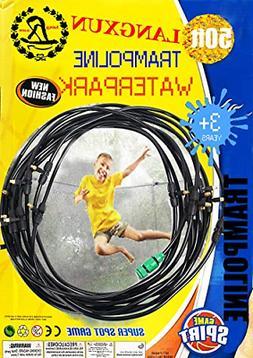 trampoline water sprinkler play for kids summer