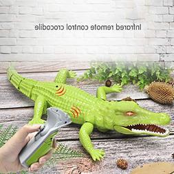 Transer- RC Crocodile, Infrared Remote Control Prank Alligat