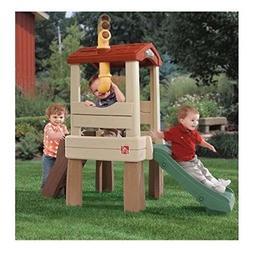 "Treehouse Climber Playset with 33"" Slide 19"" high platform"