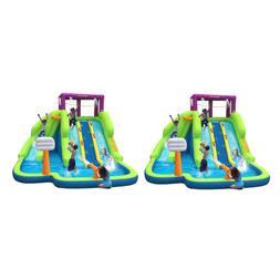 Kahuna Triple Blast Kids Inflatable Splash Pool Backyard Wat