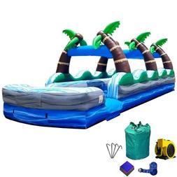 Tropical Commercial Inflatable Slip n Slide Dual Lane Water