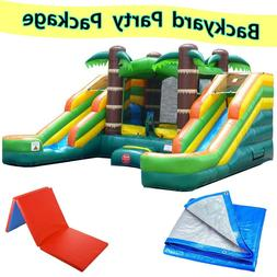 tropical premium inflatable bounce house with water