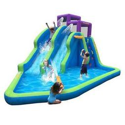 Magic Time Twin Falls Outdoor Inflatable Splash Pool Backyar