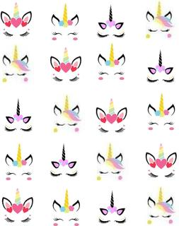 Unicorn Faces Waterslide /Water Transfer Nail Decals/Nail ar