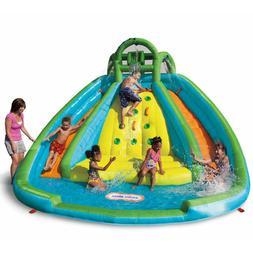 water pool slide flume swimming inflatable backyard