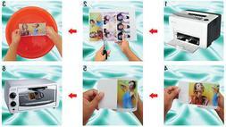 WATER SLIDE DECAL TRANSFER White inkjet decal paper 20 Sheet